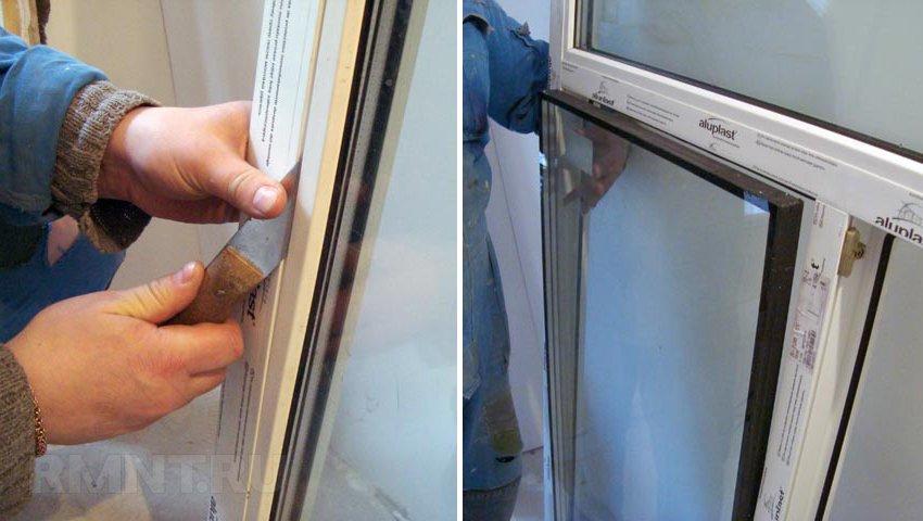 Замена стеклопакета в деревянных окнах своими руками 74