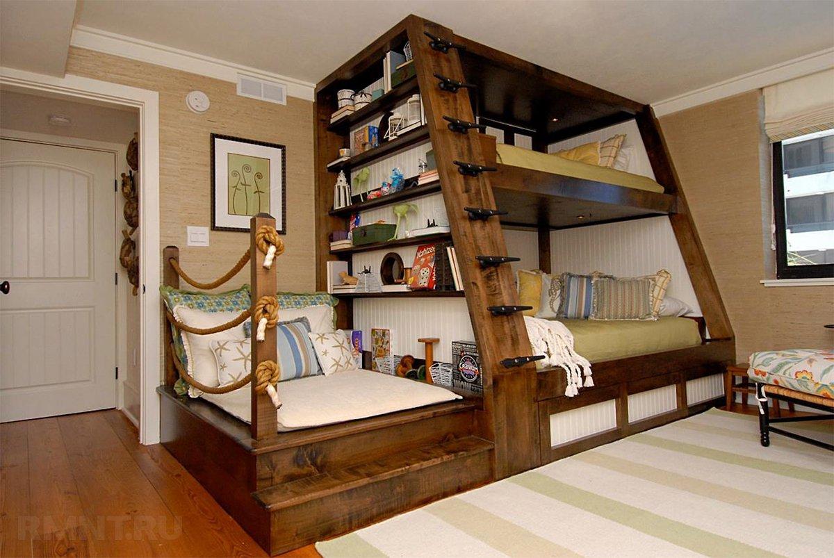 Кровать для троих детей: варианты и их особенности