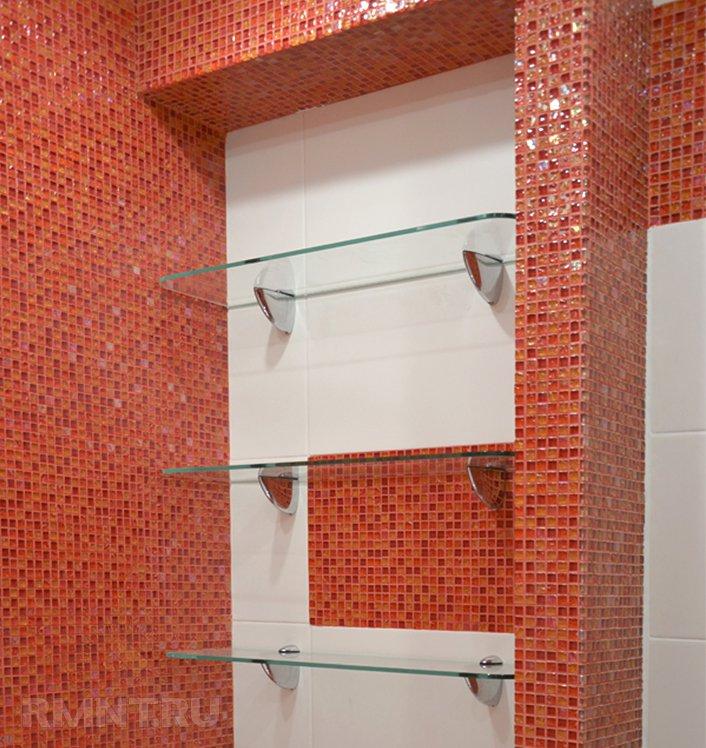 полки в ванную комнату угловые фото